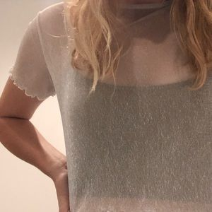 sparkly see through shirt